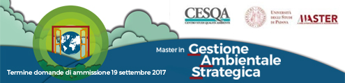 Banner Master Gestione Ambientale Strategica UniPD