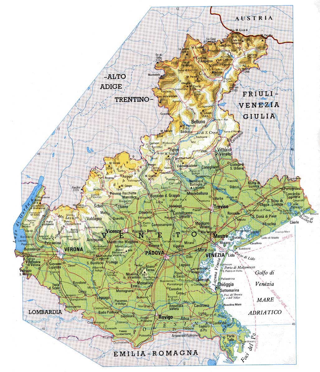Cartina Politica Regione Veneto.Unioncamere Del Veneto
